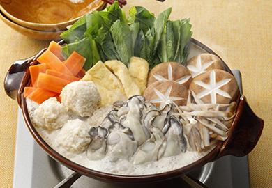 牡蠣ごま豆乳鍋